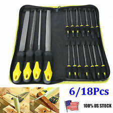 18Pcs Hand Tool Wood File Set High Carbon Steel for Woodwork Metal Glass Ceramic