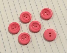 6 Round Pink Buttons 18mm D536 Aussie Seller