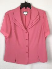 Danny & Nicole Womens 2-Piece Skirt and Top Set Salmon Size 16