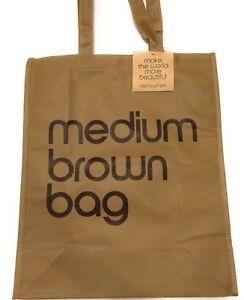 NWT Bloomingdales Medium Brown Reusable Bag