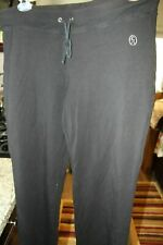 Christine Alexander Black Long Sweatpants W/Tie and embelishments  Sz Xl  NWOT