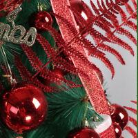 2pcs Color Glitter Fern Net Artificial Leaf Christmas Tree Decoration Ornament