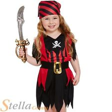 Girls Toddler Pirate Girl Fancy Dress Costume Sailor Book Week Outfit Age 2-3