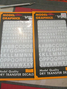 HO Scale Dry Transfer White Railroad Gothic Style Letters - Woodland Scenics