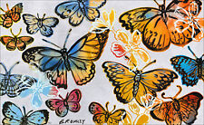 """DAVID BROMLEY """"Butterflies"""" Signed Limited Edition Print 77cm x 126cm - Stunning"""