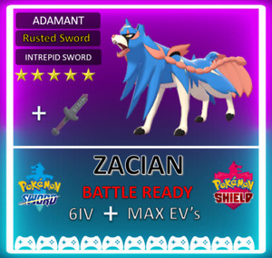 Pokemon Sword & Shield 6IV Zacian! /w Rusted Sword Ditto Bundle *Fast Delivery*