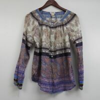Sundance Women's Blouse Top Multicolor Long Sleeve Size M
