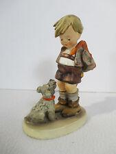 Hummel Not For You Boy Hiding Flowers Dog Vintage Goebel Figurine #317 TMK3