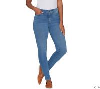 Isaac Mizrahi Live! Regular TRUE DENIM 5-Pocket Ankle Jeans Light Indigo Reg 8