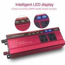 2000W / 4000W Car DC 12V to AC 230V Power Inverter Charger Converter 4 USB 3 AC