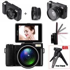 Digital Video Camera DV Full HD 1080P Camcorder Wide Angle Lens + Free Tripod WT