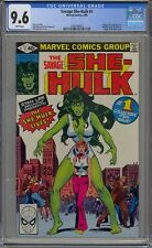SAVAGE SHE-HULK #1 CGC 9.6 1980 WHITE PAGES 1ST APPEARANCE