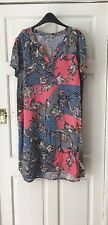 TU Dress Colour Block Multi Floral Tunic Plus Size UK 18 Summer Holiday