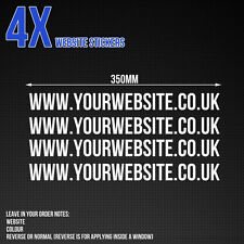 Custom website stickers -  Car / Van / Shop window vinyl stickers x4