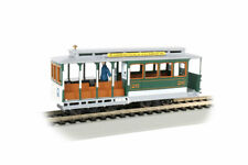 Bachmann 60536, HO Scale,  Cable Car w/Grip Man - Green & Tan