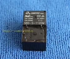 5pcs 12VDC SRD-S-112DM 15A 125VAC 4Pins SANYOU Coil Power Relay