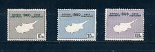 Chipre 1960 constitución de República SG203/5 Placa bloques de 4 estampillada sin montar o nunca montada