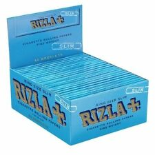 Rizla King size Blue Slim Papers Box