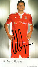 Autogramm - Mario Gomez (Bayern München) - 2009/2010