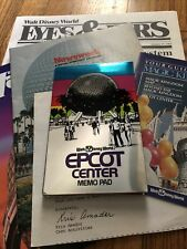 1982 Epcot Center Memo Pad Guide letter newspaper Walt Disney World Guide rare