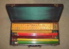 Vintage 1930's Butterscotch Bakelite Mahjong Set 152 Squares & Accessories