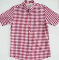RODD & GUNN Mens Shirt  Size S Original Fit Short Sleeve Blue Red Check RRP$179