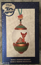 Disney Store 30th Anniversary  Snowglobe Sketchbook Ornament Bambi & Thumper NEW