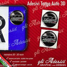 2 Adesivi Stickers bollino 3D Resinato targa Auto Moto Fiat 500 Assetto Corse