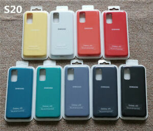 Original Samsung Galaxy S20 Silky Silicone Soft-Touch Cover Case For Galaxy S20
