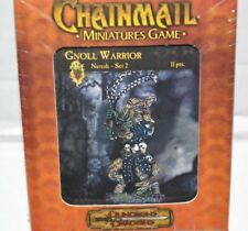 Chainmail Miniatures GNOLL WARRIOR Naresh Set 2 WOTC Dungeons Dragons Sealed D&D