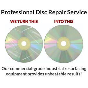 45 Game Disc Repair Service-Resurface PS 1 2 3 4 Xbox 360 One Wii U GameCube Lot