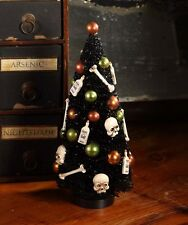 Halloween Bottles and Bones Bottlebrush Tree Bethany Lowe Skulls Gothic Decor