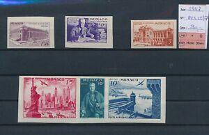 LN75909 Monaco 1947 imperf centenary of expo fine lot MNH cv 90 EUR