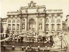 Italie, Roma, Fontana di Trevi Vintage albumen print  Tirage albuminé  18x24