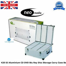 2 x 420 DJ Aluminium CD DVD Blu Ray Disc Storage Carry Case Box Numbered Sleeves