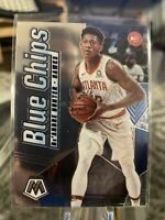 2019-20 Panini Mosaic De'Andre Hunter Base Blue Chips RC Atlanta Hawks #12