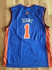 """New York Knicks NBA Jersey sz L Custom Name """"Zionc"""" #1 Rare NYK Reebok Hip Hop"""