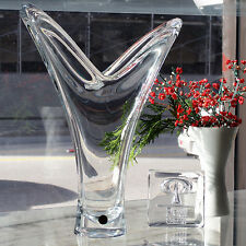 """AKAZIE Vase 12.6"""" tall Lead Crystal NEW NEVER USED #28771 made Germany by Peill"""