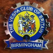 VESPA CLUB OF BRITAIN BIRMINGHAM COG 2 PLAQUE/ BADGE