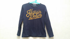 T-shirt manches longues marine Tommy Hilfiger T.8 ans