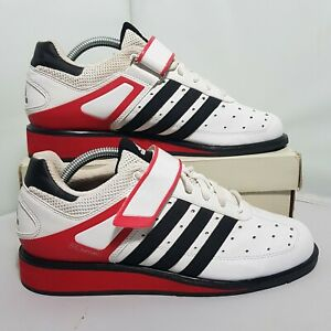 Adidas Weightlifting Size 8 UK White Power Perfect 2 Shoes US 8.5 EUR 41 G17563