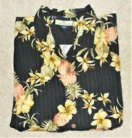 Tommy Bahama Mens Hawaiian Floral Print Camp Shirt Silk Aloha XXL