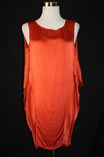 GF FERRE Women's Rust Orange 100%SILK Sleeveless Blouse Made in Italy EU40 *5000