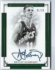 2016-17 National Treasures Detlef Schrempf Auto #d /75 Seattle Supersonics