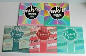 Craft Scrapbook Paper Pads 6 x 6  *  15 Different Designs to choice from