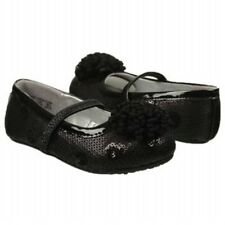 New STRIDE RITE Dress Shoes Flats  Baby Kenleigh Black Sparkle Sequin 4 M