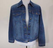 IZOD Jeans Jacket, Classic Trucker denim Size MEDIUM Womens, 100% Cotton, Soft
