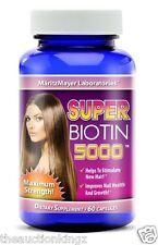 Biotin 5000 Stimulate New Hair Nail Growth Maximum Strength  B7 60 Pills