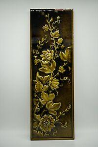 """Antique Beaver Falls Art Tile Co. Floral Tile 18"""""""