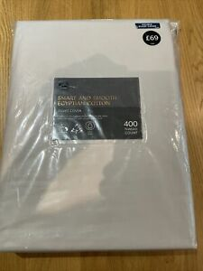 BNWT M&S Egyptian Cotton Duvet Cover Double 400 Thread Count - Pearl RRP £69